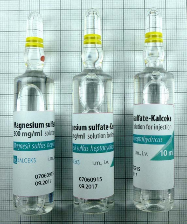 WHO Prequalification for Magnesium sulfate Kalceks 500 mg/ml